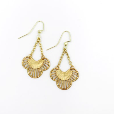 Scallop Deco Earrings