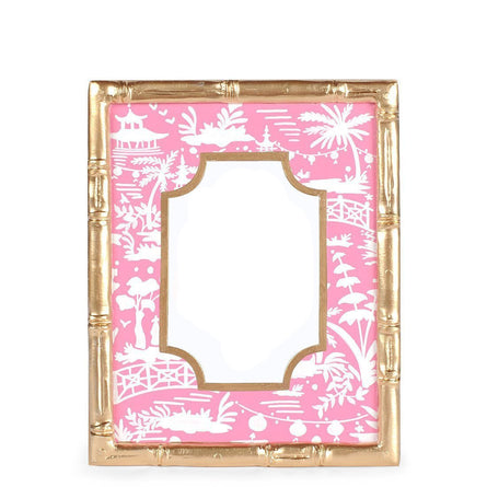 Shanghai Bamboo Pink Photo Frame 5x7