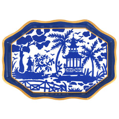 "Shanghai Blue 22"" Tea Tray"