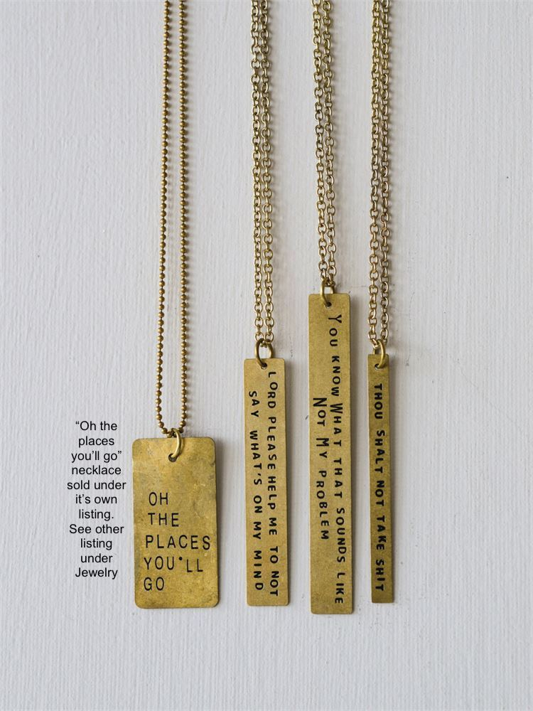 Snarky Sayings Message Necklace 2