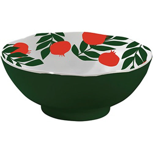 "Pomegranates 11.5"" Round Melamine Serving Bowl"