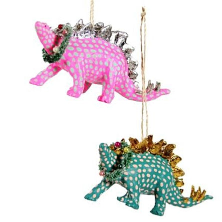 Fancy STEGASAURUS Ornament