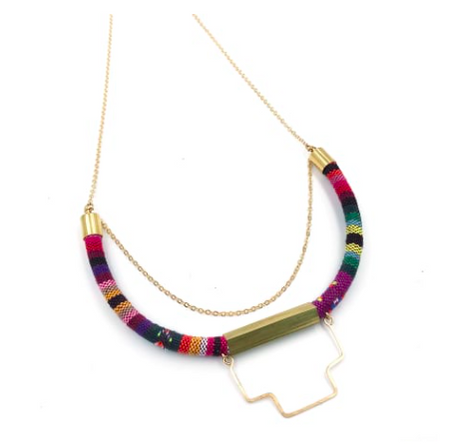 Striped Cord Necklace