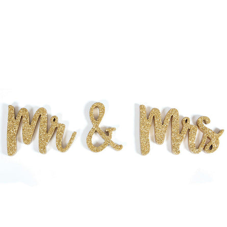 Mr. and Mrs. Wedding Day Table Talker