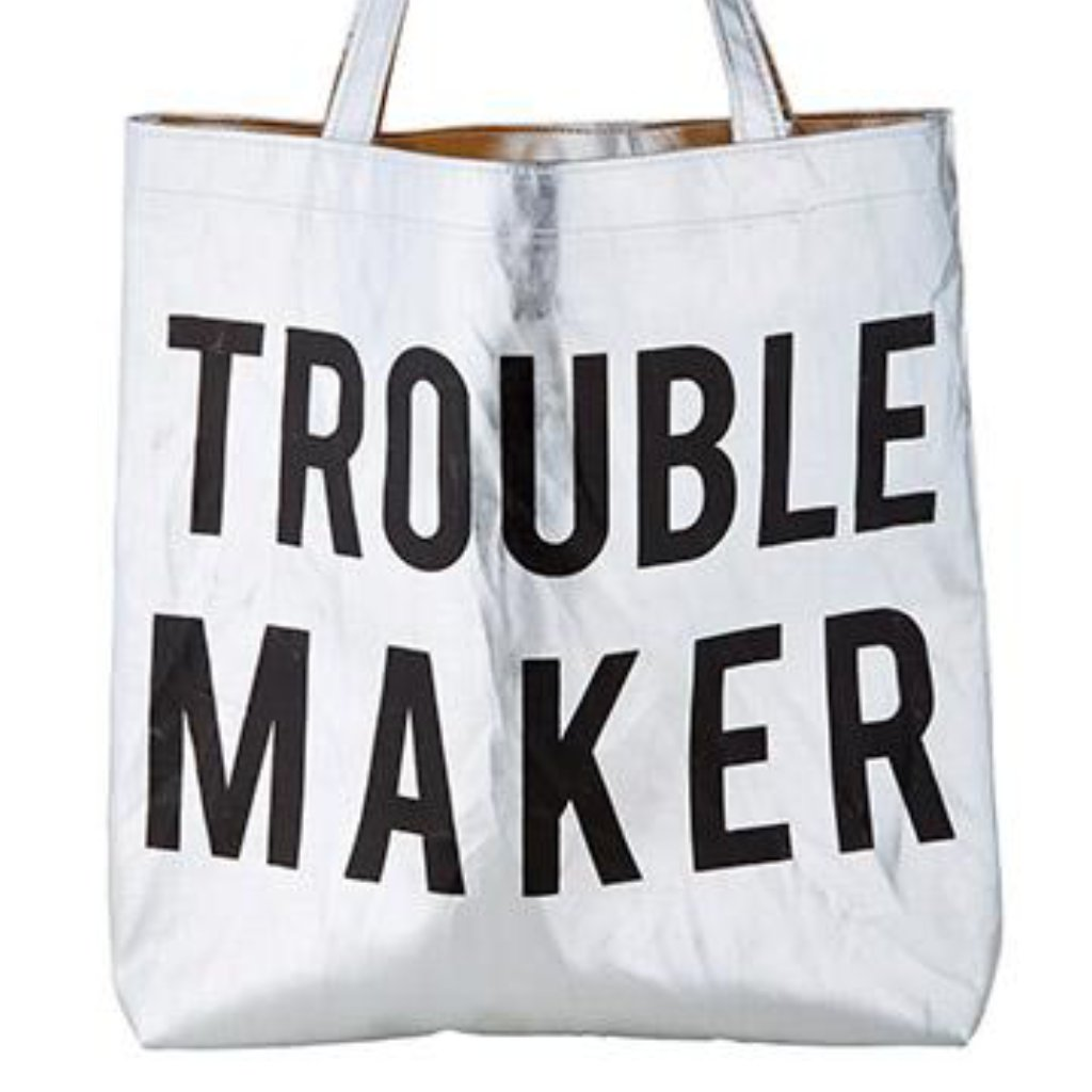Trouble Maker Metallic Tote