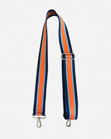 Navy Turquoise Orange Stripe Adjustable Bag Strap