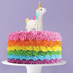 Make A Wish Come True Unicorn Candle