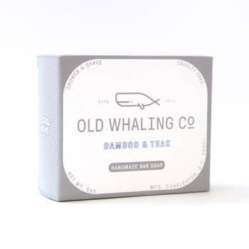 Old Whaling Bamboo + Teak Bar Soap