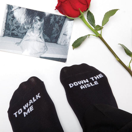 To Walk Me Down The Aisle Wedding Socks