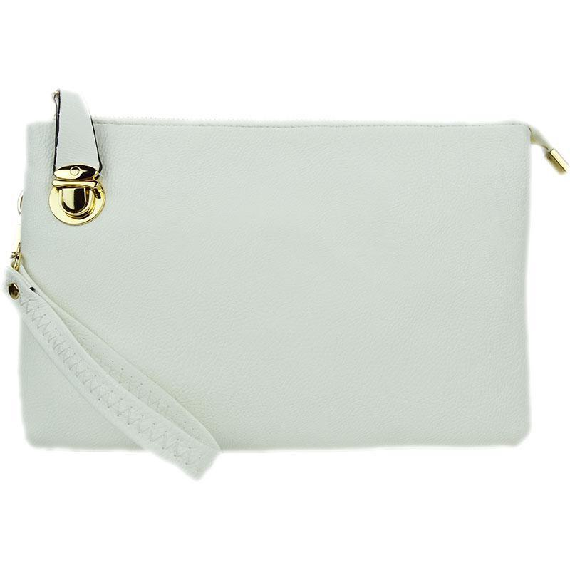 Florence White Crossbody Clutch