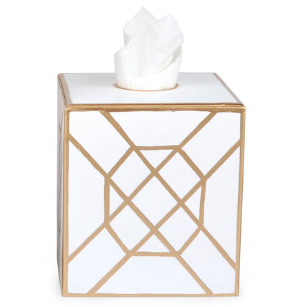 Don't Fret White Tissue Box Cover