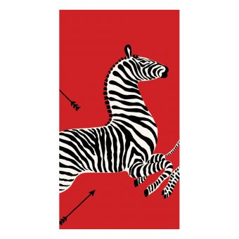 Zebras Red Guest Towel