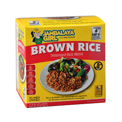 Jambalaya Girl Brown Rice Seasoned Rice Blend, 8 oz (4 pack) • Gluten Free • 100% Whole Grain