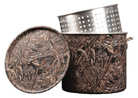 Limited Time Only! Camouflage MAX5-80 qt. Aluminum Pot, Lid, and Extra Large Basket