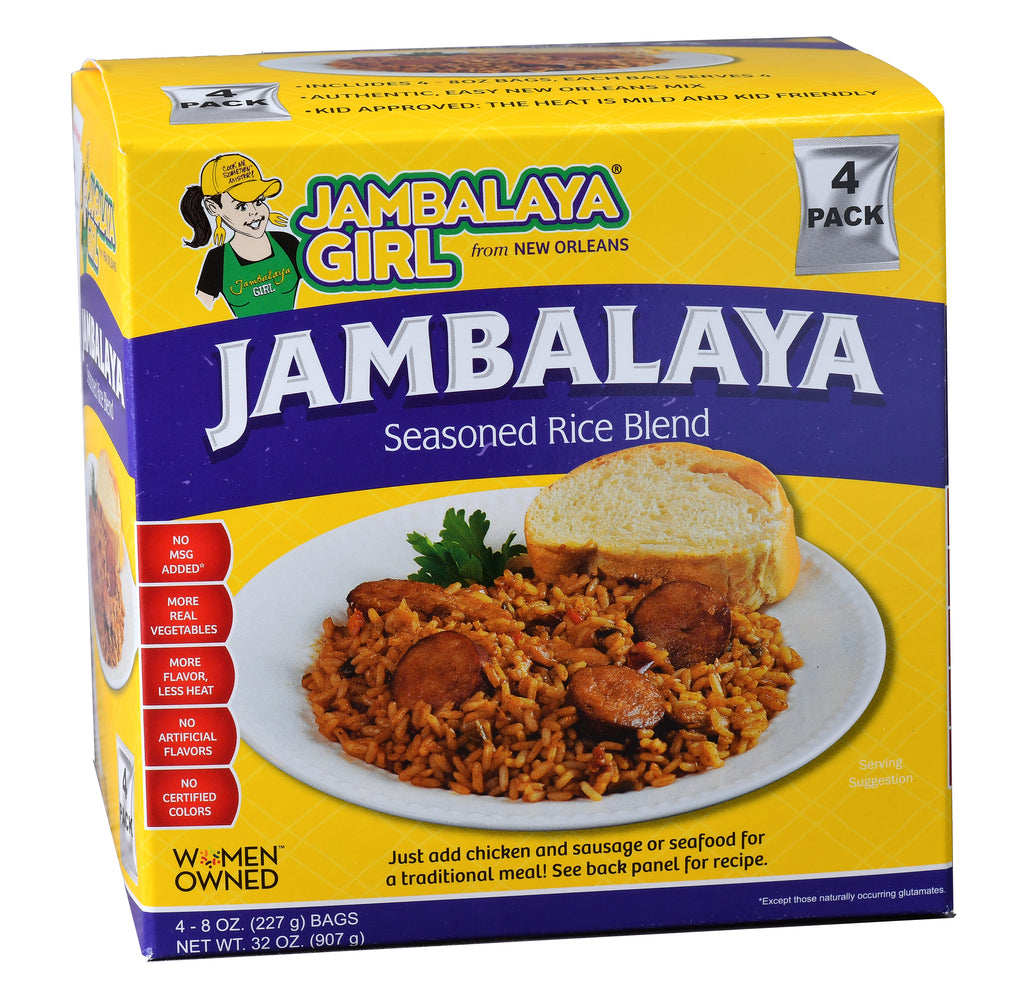 Jambalaya Girl Jambalaya Seasoned Rice Blend, 8 oz (4 pack)