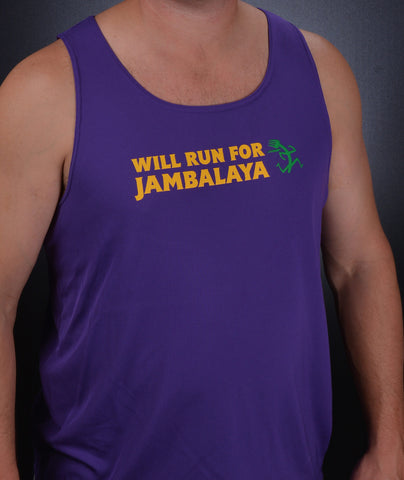Will Run For Jambalaya - Men's/Unisex Tank Top + FREE box of Jambalaya