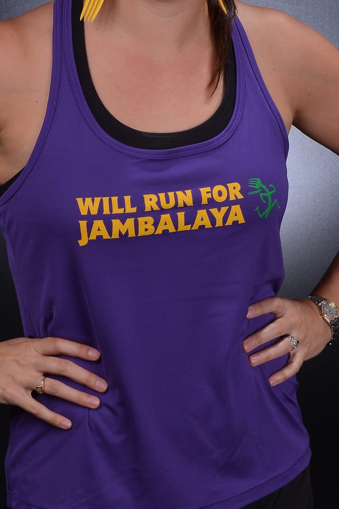 Will Run For Jambalaya - Women's Tank Top + FREE box of Jambalaya
