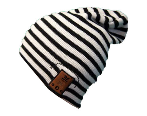 24/7 Tall Fit Black/White Stripe Bluetooth Beanie Shell