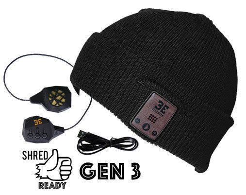 Diver Down Ink Black Bluetooth Beanie