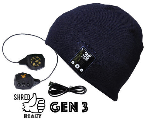 Justright INK BLACK Bluetooth Beanies with Be-Link system