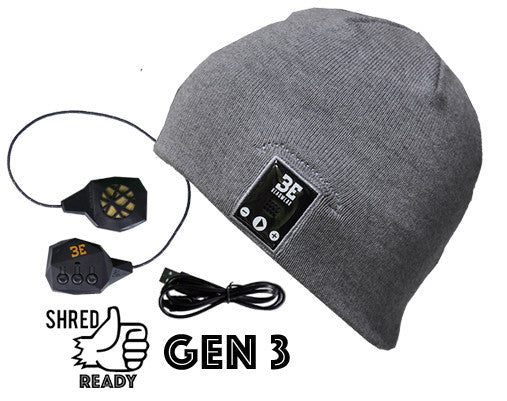 Justright GREY Bluetooth Beanies with Be-Link system