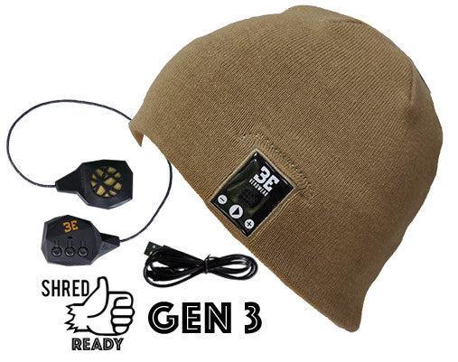 Justright SANDY BROWN Bluetooth Beanies with Be-Link system
