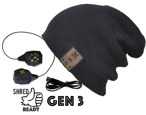 24/7 Tall Fit Ink Black Bluetooth Beanie