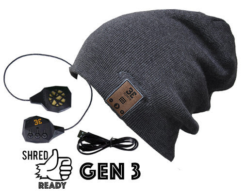 24/7 Tall Fit Wolf Grey Bluetooth Beanie