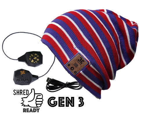 24/7 Tall Fit Tri-Stripe Bluetooth Beanie