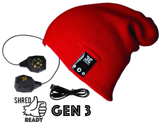 24/7 Tall Fit Red Bluetooth Beanie
