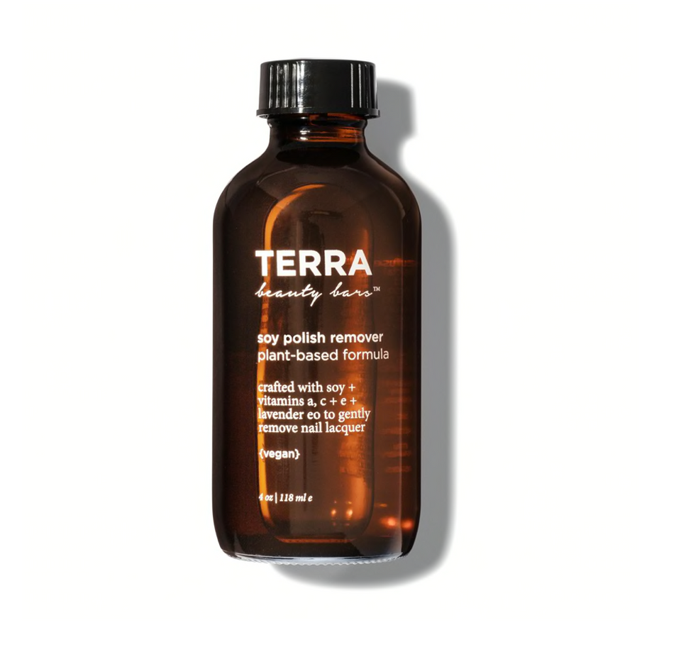 Soy Plant Based Nail Polish Remover - Terra Beauty Bars