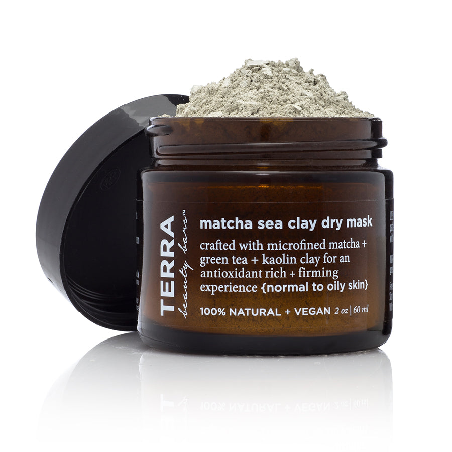 Matcha Sea Clay Dry Mask (Vegan, Waterless) - Terra Beauty Bars