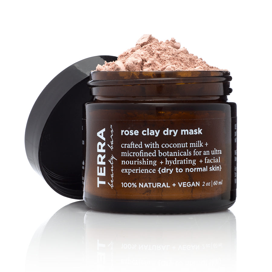 Rose Clay Dry Mask (Vegan, Waterless Formulation) - Terra Beauty Bars