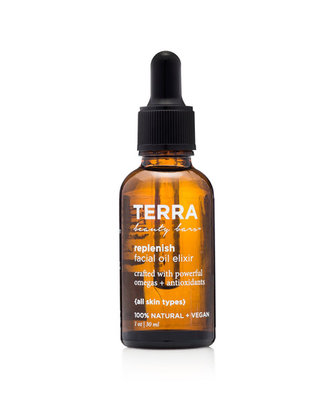 Replenish Facial Oil Elixir (Vegan, Waterless Formulation)