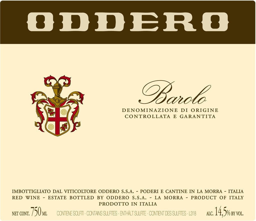 2013 Barolo from Oddero plus Library Vintages