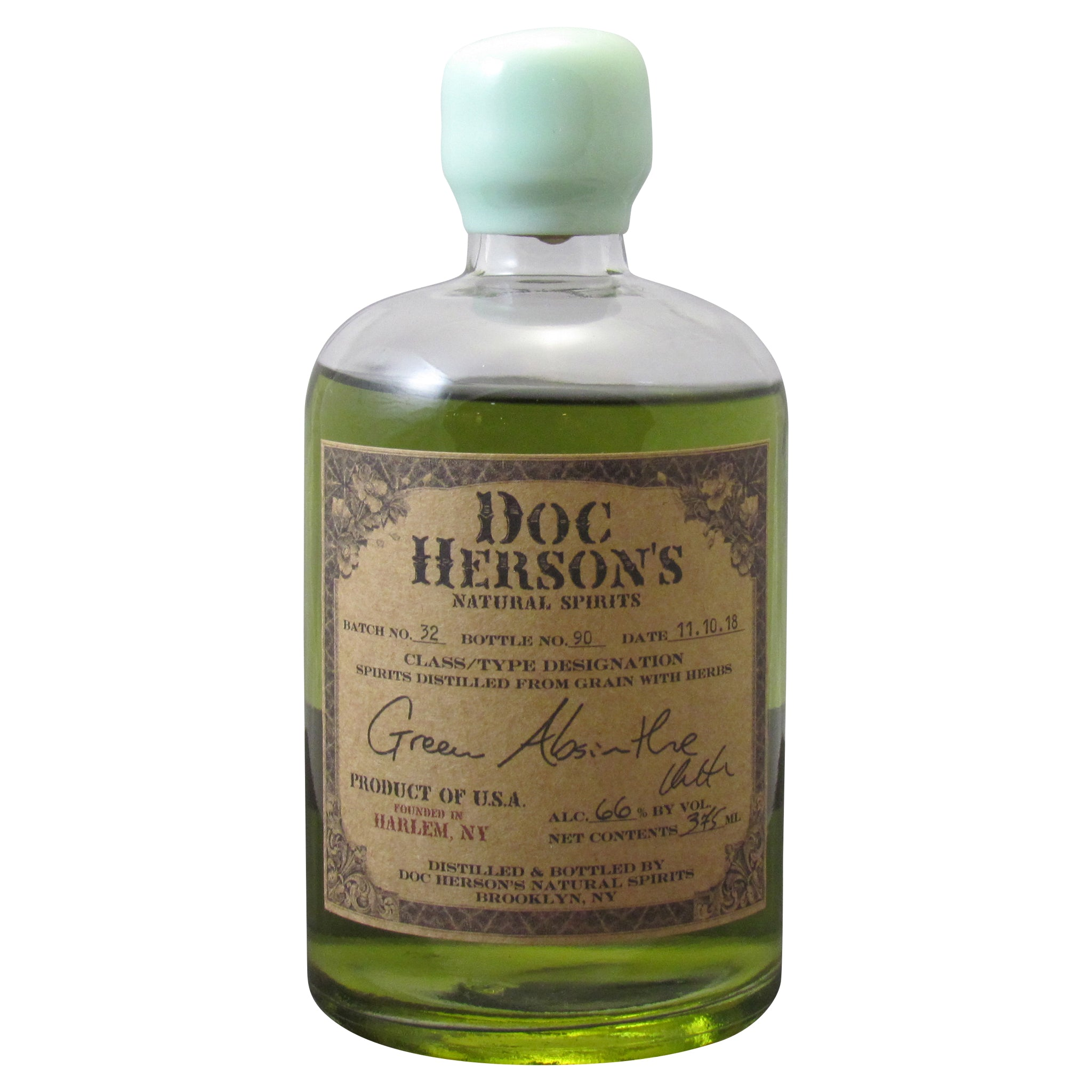 (375 ml) Doc Herson's Green Absinthe