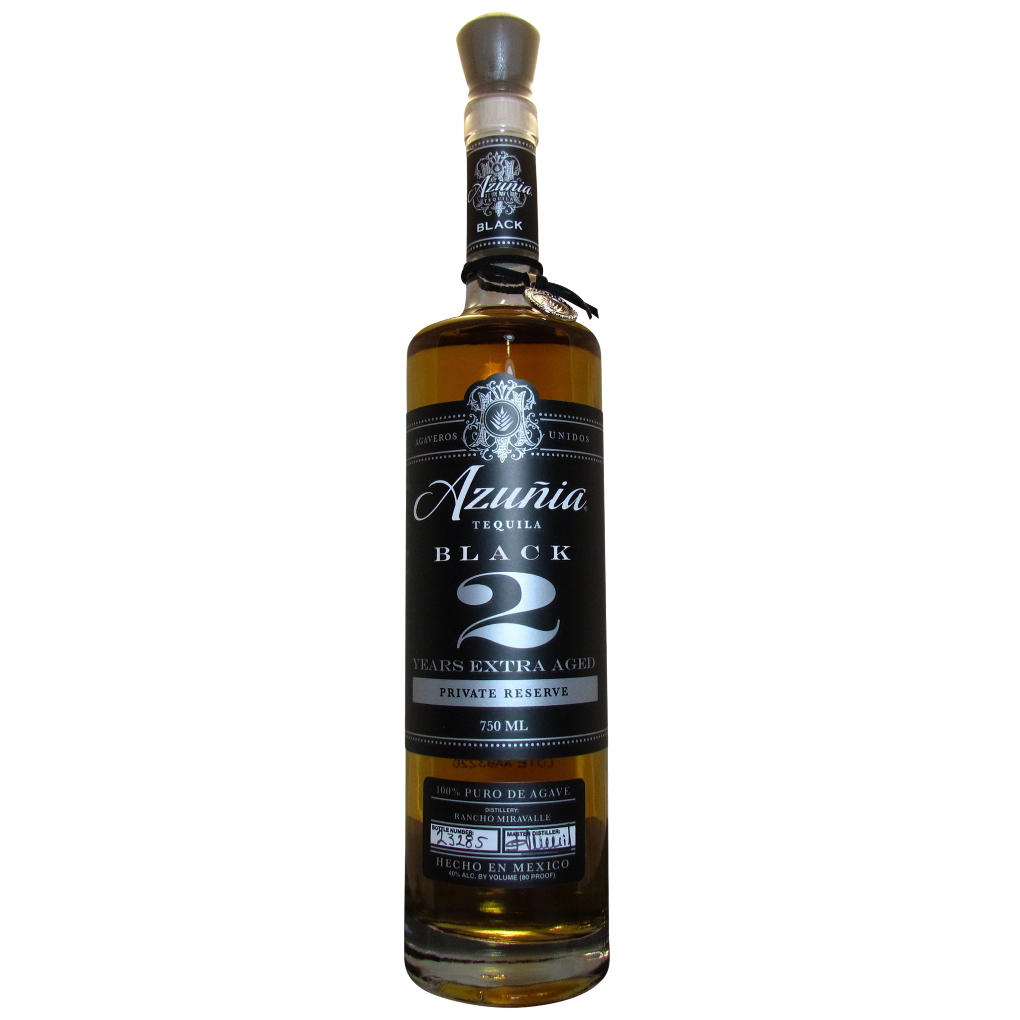 Azuñia 2 Years Old Aged Black Private Reserve Añejo Tequila 100% de Agave