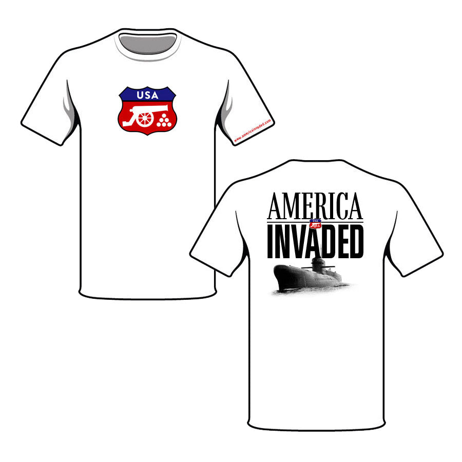 America Invaded Submarine T-Shirt