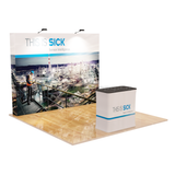 10FT STRAIGHT POP-UP STAND KIT