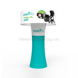Arch Stand Display Booth | Trade Show Fabric Arch | Deluxe Canopy