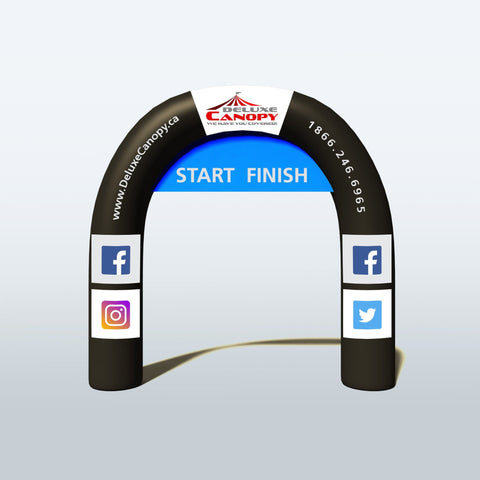 Inflatable Arch | Custom Made Round Arch | Printed Marathon Arches