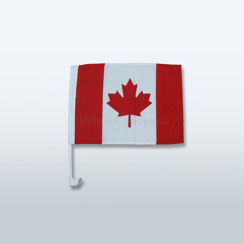 Custom Canada Car Flags | Printed Promo Vehicle Flag - Deluxe Canopy