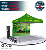 Custom Pop Up Canopy Tent Package #2 | Printed Graphic Tents - Deluxe Canopy