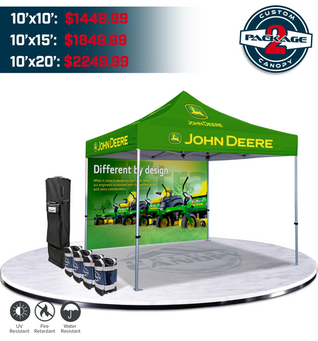 Custom Canopy Tent Package #2 | Branded Graphic Trade Show Pop Up Tent | Deluxe Canopy