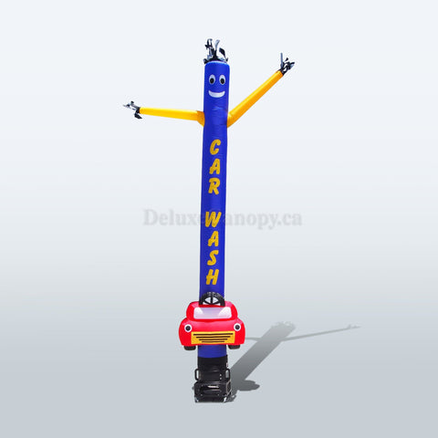 Car Wash Air Dancer | Custom Inflatable Tube Man - Deluxe Canopy