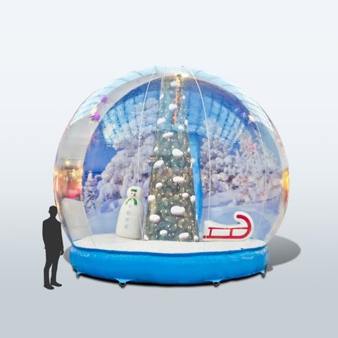 Inflatable Snow Globe | Custom Made Giant Event Snow Globe - Deluxe Canopy