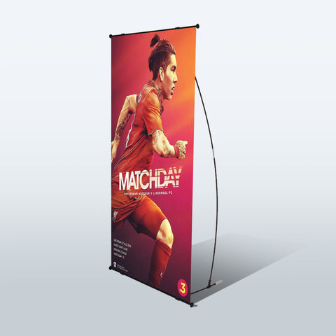 L Banner Stand - Deluxe Canopies Canada