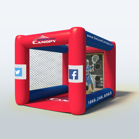 Inflatable Lacrosse Cage Canada | Interactive Inflatable Game | Deluxe Canopy
