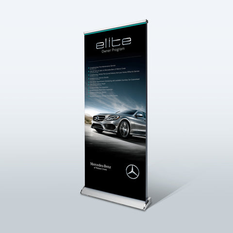 Retractable Banners Stands | Premium Banner Stand | Roll Up Banners - Deluxe Canopy