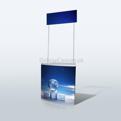 Trade Show Display Counter | Custom Booth Counter - Deluxe Canopy